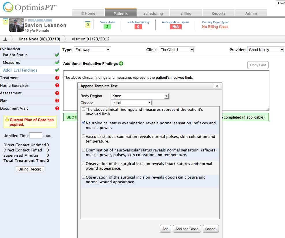 Features optimispt for As built software documentation